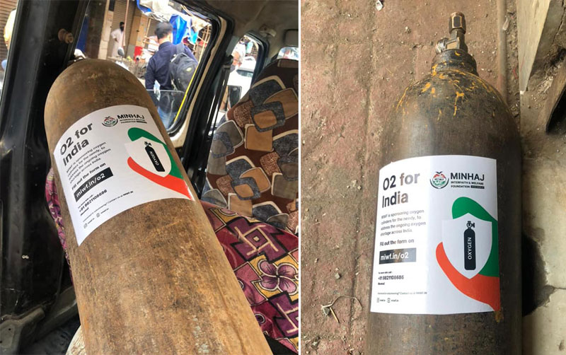MIWF supplying Free Oxygen Cylinders to Covid patients